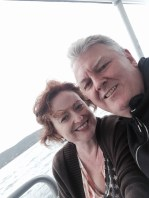 That's a windswept DD and I on the ferry ride. We had a glass of wine looking out at the sea at the local RSL then caught the ferry back.