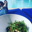 Quinoa salad by the pool, as you do ...
