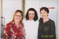 A prison guard took this photograph of myself and my friend Tracy with Kathy many years ago.