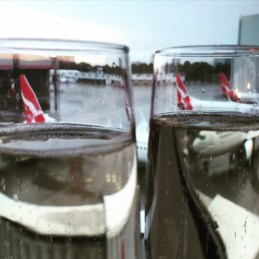 My arty champers shot in the Qantas business class lounge.