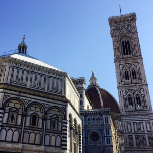 The Duomo, Giotto's Tower and the Baptistery.