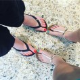The youngest and I got our first mother-daughter pedicure yesterday ... wishing I hadn't gone for visy vest orange ...