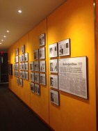 Inside The New York Times building.
