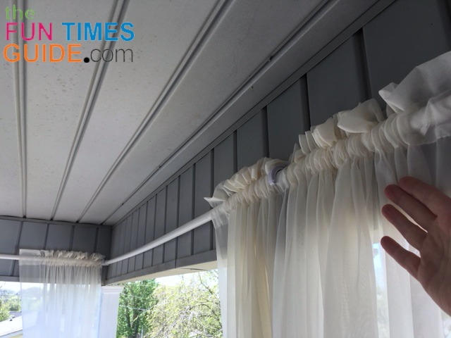 diy curtain rods for outdoor porch