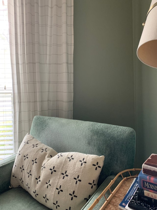 fabric marker to update plaid curtains with plaid pattern