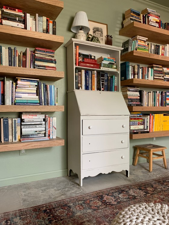 floating book shelf wall