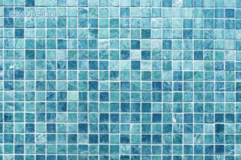 Blue marble mosaic tile texture background
