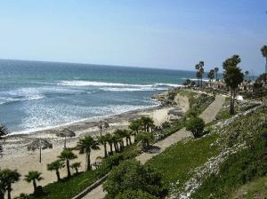 Our sandy beach on the the east end of Las Gaviotas