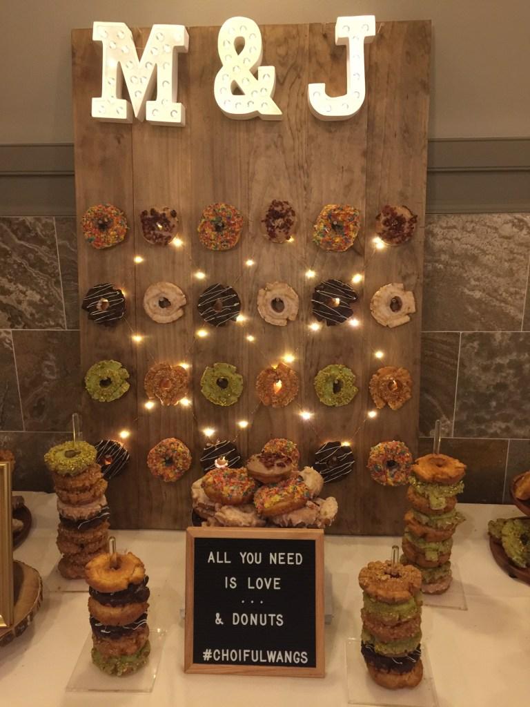 Wedding Easy DIY Donut Wall
