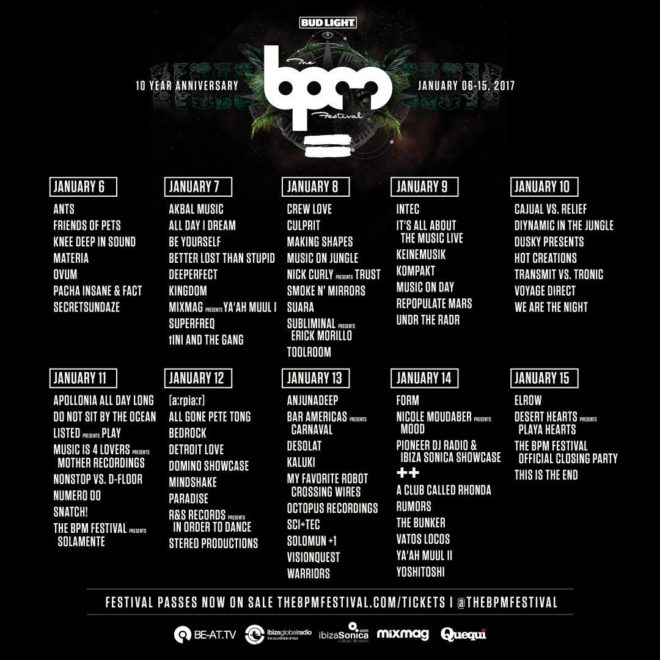 bpm festival house Music 1