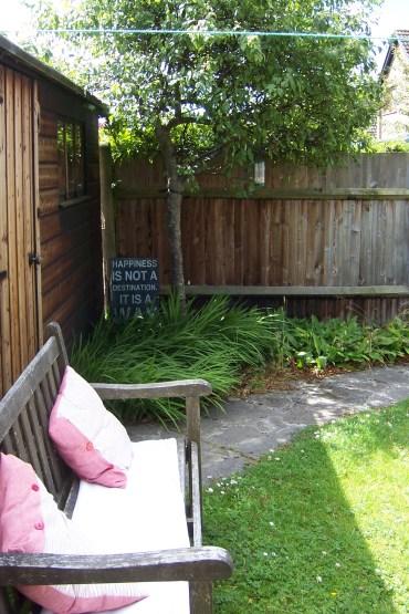 Sunny spot in the back garden