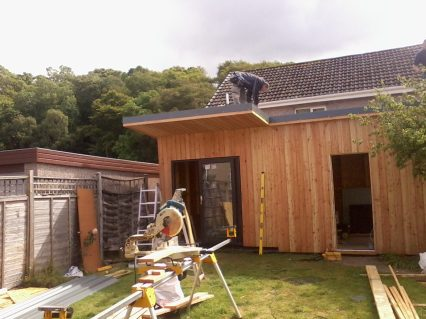 Day 6 - Facing added to the roof edge.