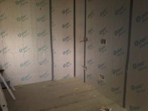 Day 6 - Insulation and wiring is up in the office.