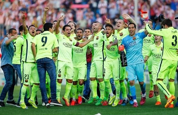Atletico Madrid v Barcelona, La Liga Football, Vicente Calderon Stadium, Madrid, Spain - 17  May 2015