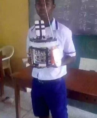 JSS3 Student From Ekiti Builds Rechargeable Lantern With Speakers, For Charging Phone