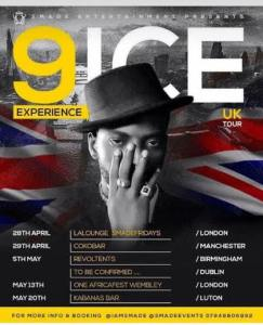 9ICE RELEASE DATE FOR UK TOUR