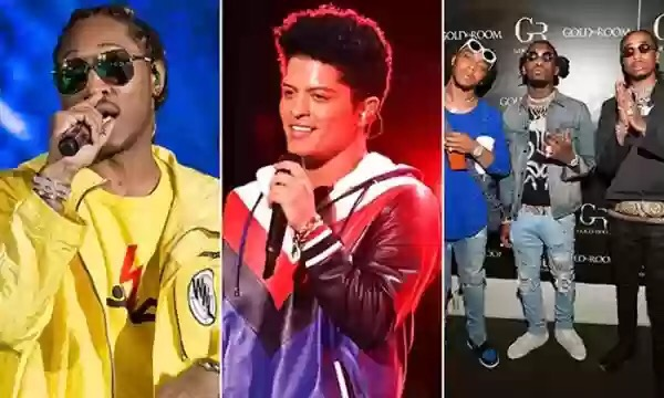 BRUNO MARS, FUTURE, MIGOS, & TREY SONGZ TO PERFORM AT BET AWARDS
