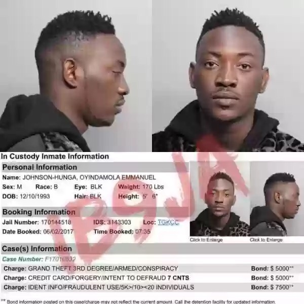 DAMMY KRANE ALLEGEDLY ARRESTED AND CHARGED WITH CREDIT CARD FRAUD IN MIAMI