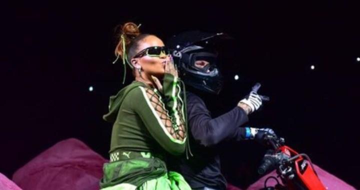 Rihanna Rides A Bike Into Fenty/Puma Fashion Week Show In New York