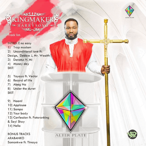 "Harrysong Releases Artwork for Upcoming Album, ""King Maker"""