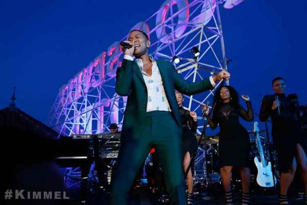 "John Legend Performs Rooftop Concert On Roosevelt Hotel For ""JIMMY KIMMEL LIVE"""