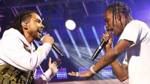 "Watch Miguel and Travi$ Scott perform ""Sky Walker"" at Jimmy Kimmel Live"