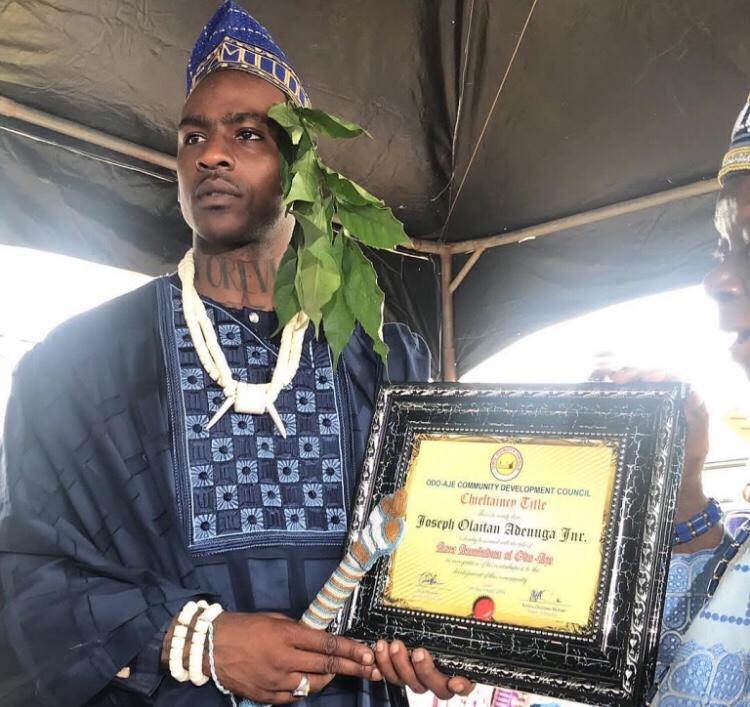 Rapper Skepta Bestowed Chieftaincy Title In His Hometown In Nigeria