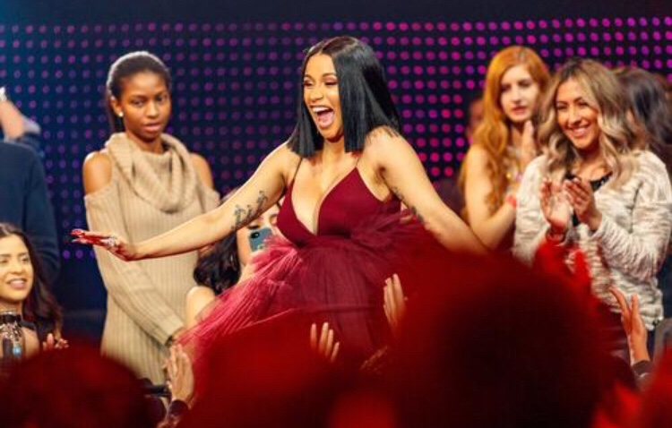Cardi B Reveals Baby Bump During