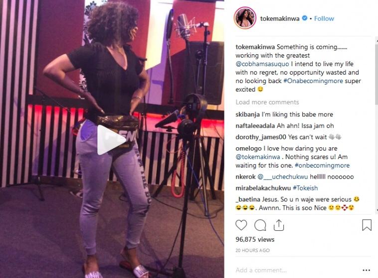Toke Makinwa set to launch her music career
