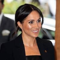 Meghan Opts For A Colourful Take On Tailoring In Bespoke Blue Jason Wu