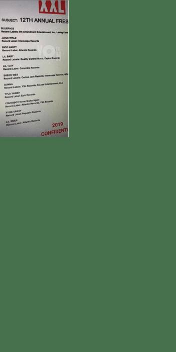 Final 2019 Freshman List