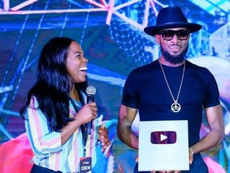 D'Banj Receives A Plaque From Youtube After Hitting 100,000 Subscribers (Photos)