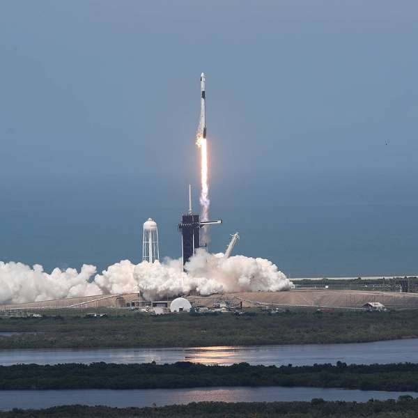 SpaceX Successfully Launches 2 Astronauts Into Space Aboard Falcon 9