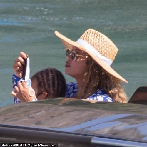 Beyonce Doted On Her Twins Rumi And Sir Following A Luxurious, Week-Long Getaway With Her Husband Jay-Z