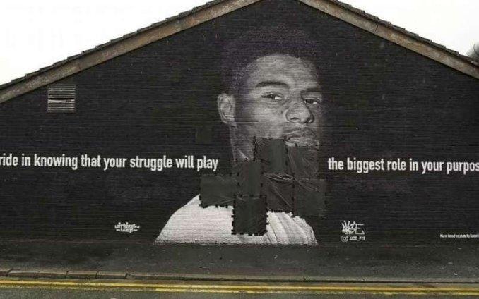 Marcus Rashford Mural Vandalised After England loss