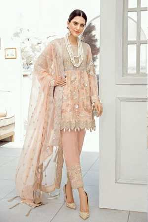 AKBAR ASLAM-Chiffon Collection-Formals-CAMELIA