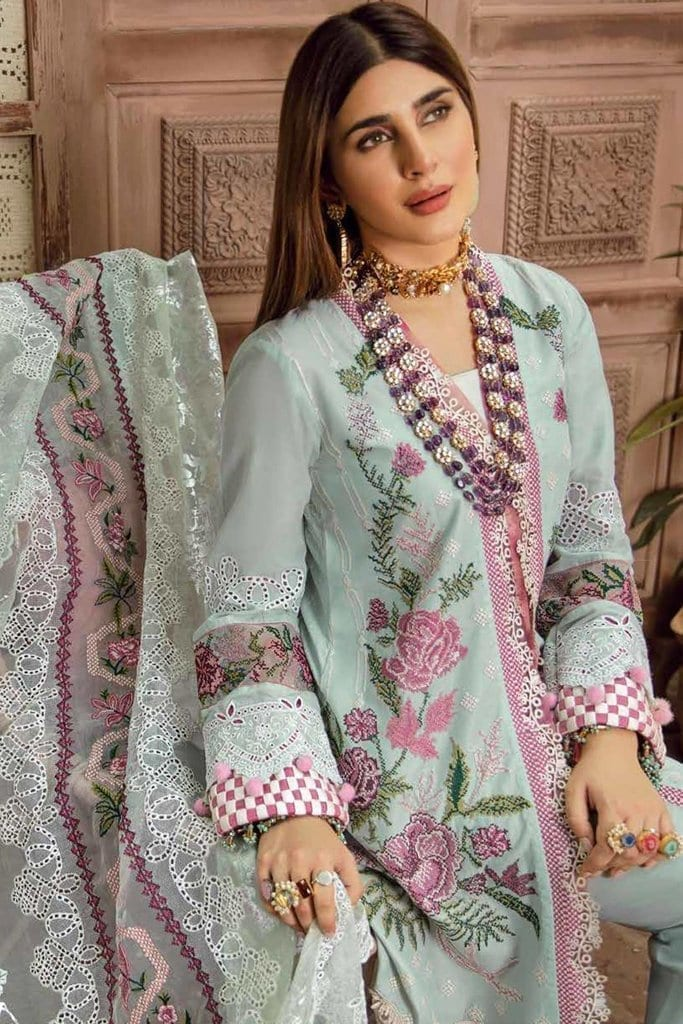 Maryam hussain festive lawn collection 2020 mrh20f d 02 french knot 4