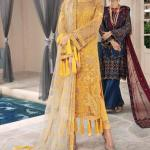 MOTIFZ | EMBROIDERED BEMBERG CHIFFON Collection | SWEET CORN-2582
