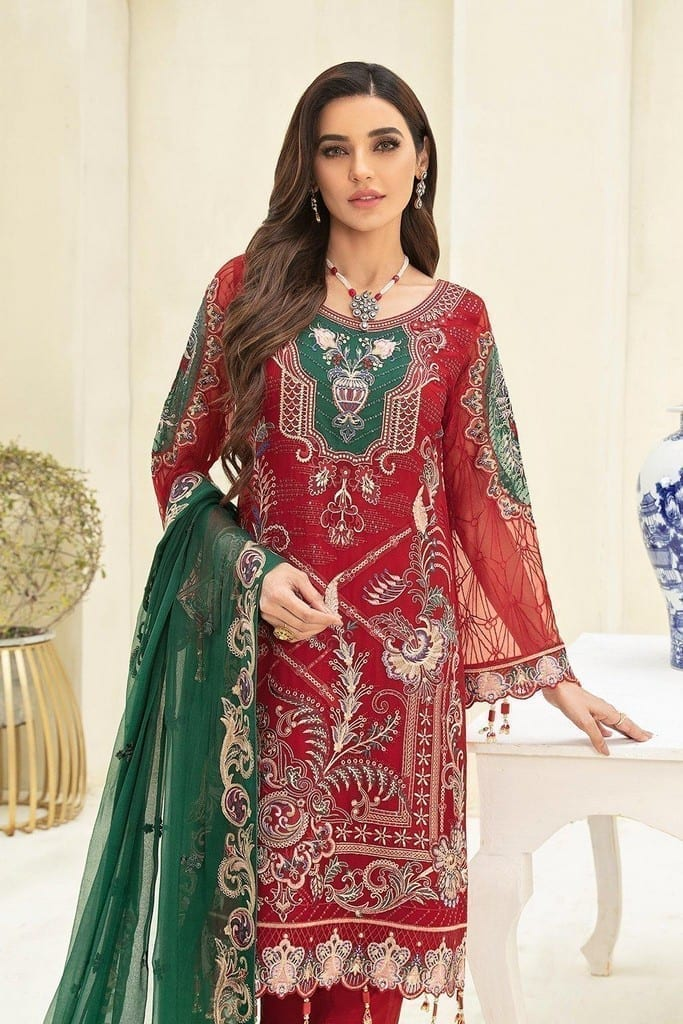 RAMSHA   CHERVAN EMBROIDERED Collection   A-308