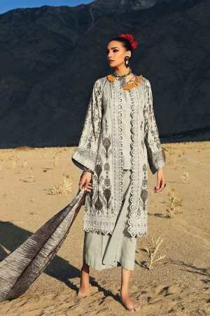 GUL AHMED | 3PC Embroidered Khaddar Shirt with Dyed Trouser | K-74