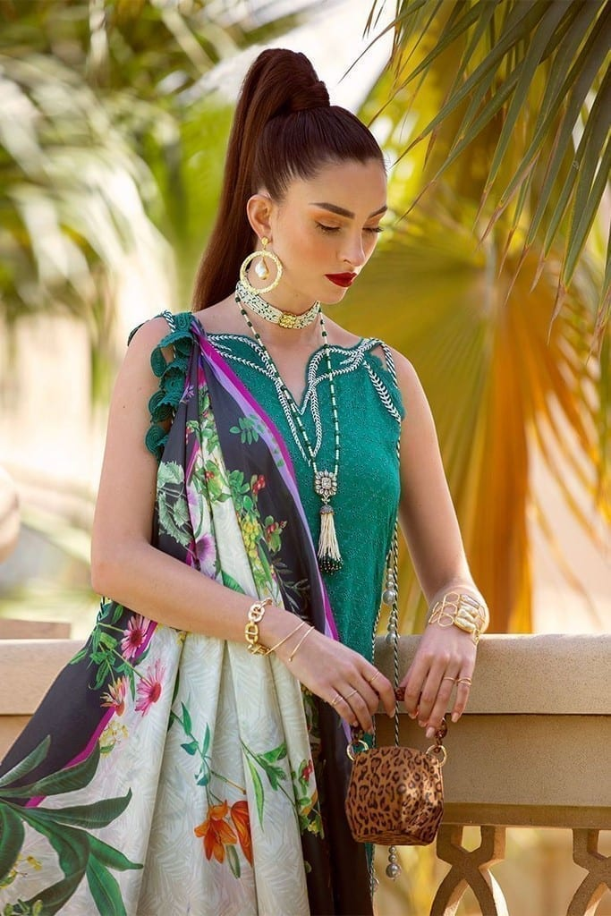 FARAH TALIB AZIZ | NERA SPRING/SUMMER Collection | SAKI EMERALD FTA-04