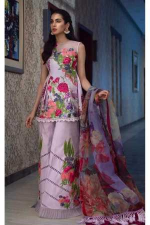 ASIFA N NABEEL | LUXURY LAWN Collection | 1-L LAVENDER