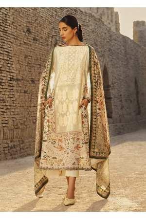 TENA DURRANI | Embroidered Lawn Suits | Ecru
