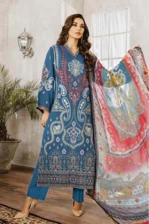 MARYUM N MARIA | Embroidered Lawn | Mussuil (ML-03)