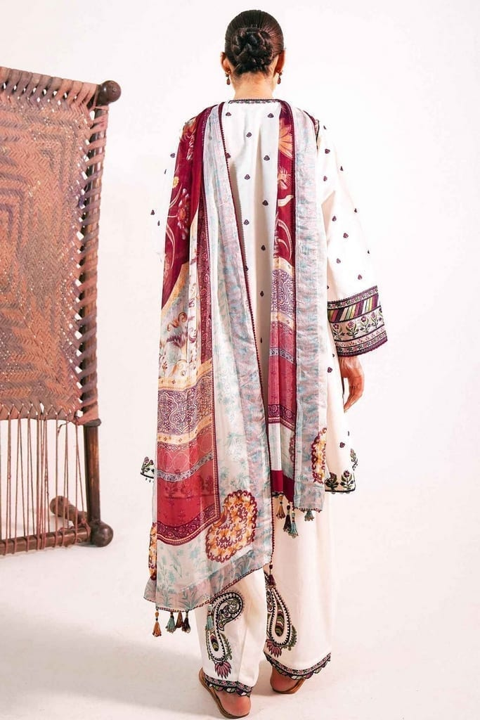 ZARA SHAJAHAN   Embroidered Lawn Suits   ZS21L 01 Meesha-A