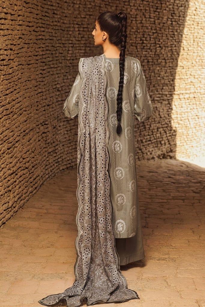 TENA DURRANI | Embroidered Lawn Suits | Slate