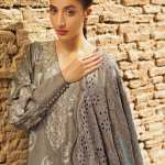 TENA DURRANI | Embroidered Lawn Suits | Slate
