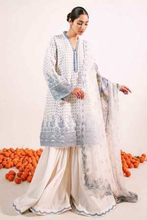 ZARA SHAJAHAN | Embroidered Lawn Suits | ZS21L 13 Zubaida-A