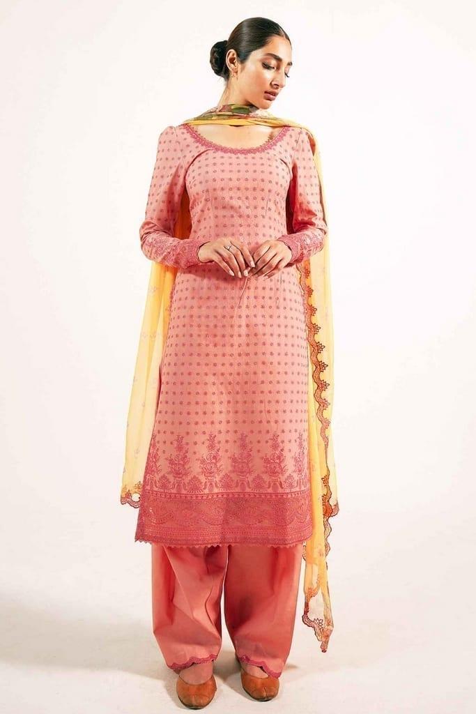 ZARA SHAJAHAN | Embroidered Lawn Suits | ZS21L 14 Zubaida-B
