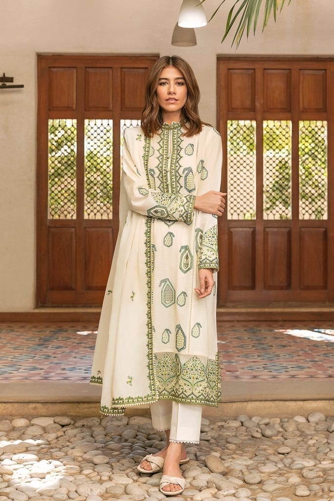ZAHA LAWN | Embroidered Lawn Suits | ROWSHAN (ZL21-15 B)